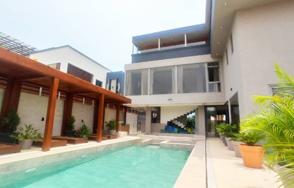 SPECTACULAR FURNISHED 9BEDROOM HOUSE NOW SELLING: EAST AIRPORT, ACCRA-GHANA